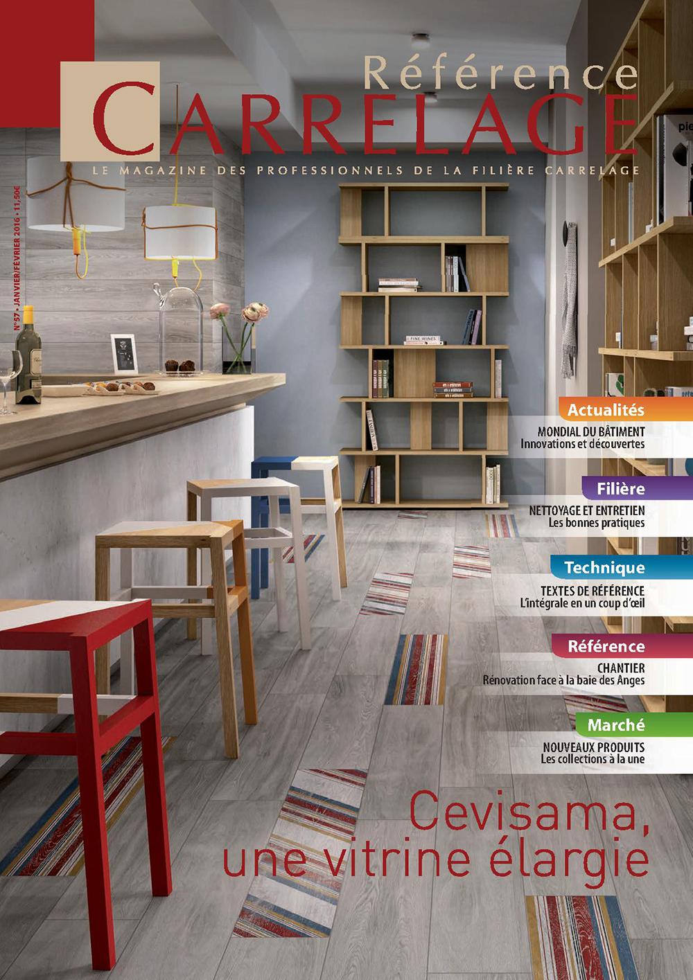 Reference carrelage le magazine des professionnels de la for Carrelage 57