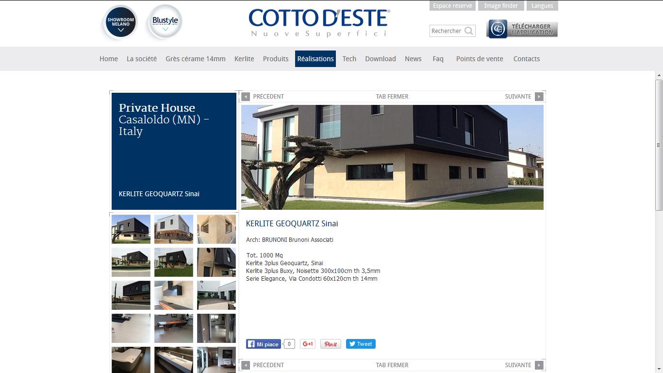 Cotto d'Este met en lumière les projets de ses clients thumbnail