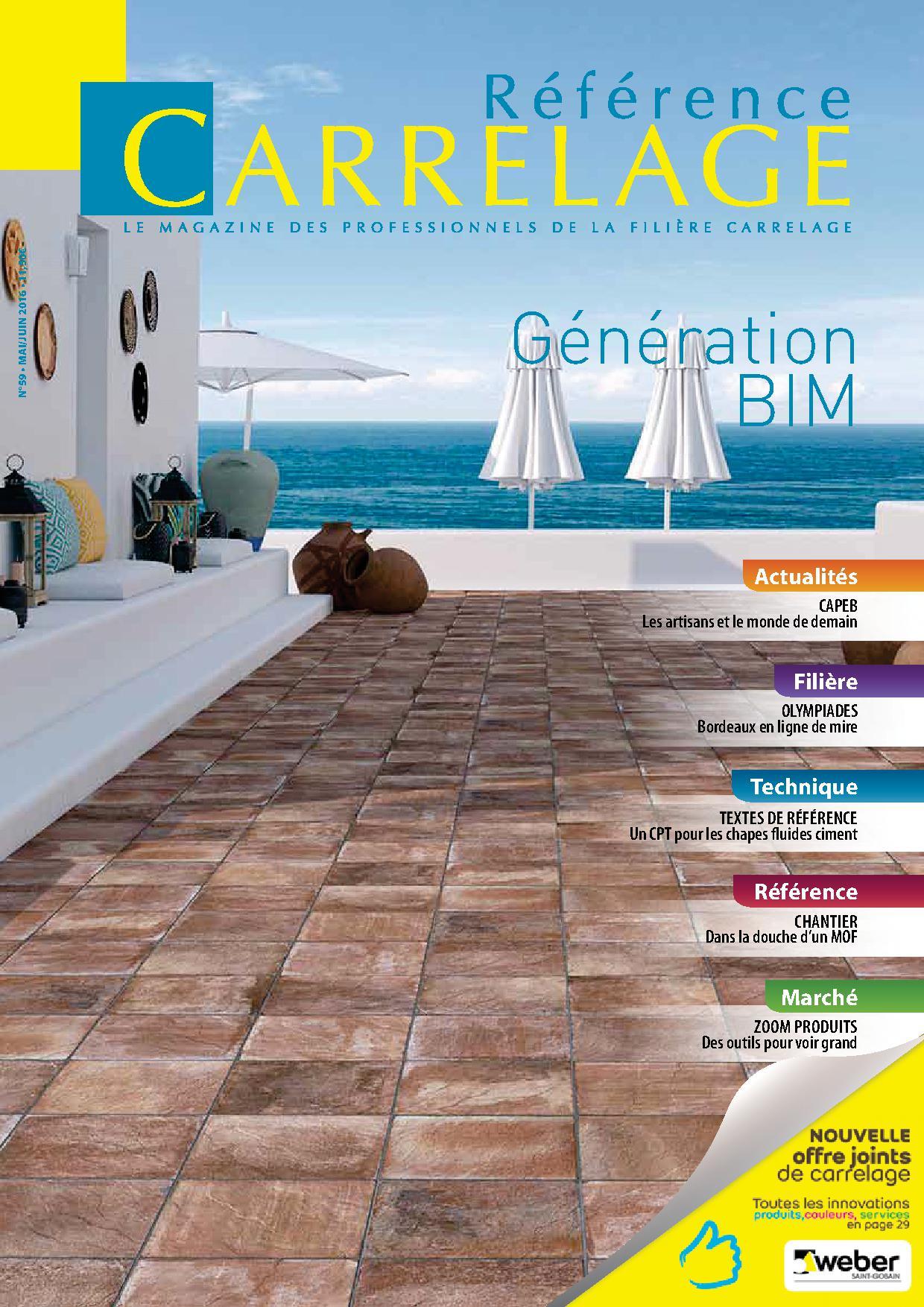 Vient de paraître : Référence CARRELAGE N°59 – Mai/Juin 2016 thumbnail