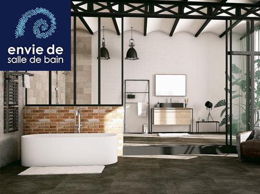 envie de salle de bain la nouvelle enseigne saint gobain r f rence carrelage. Black Bedroom Furniture Sets. Home Design Ideas